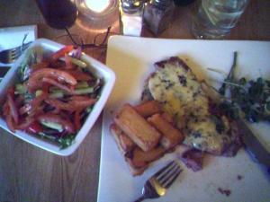 Actually this delicious meal was the right size for me!