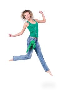 lady jump shutterstock_170470592 bought